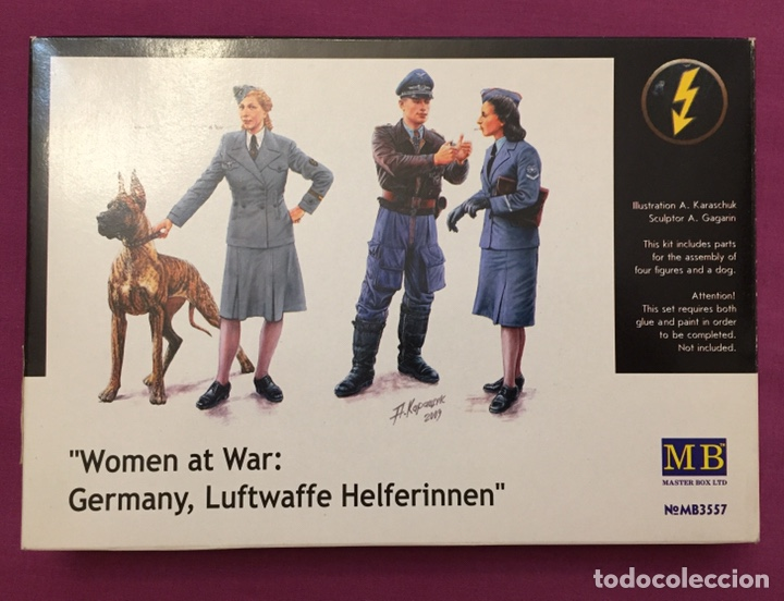 Maquetas: Women at War Germany Luftwaffe helferinnen 1:35 MÁSTER BOX maqueta figura diorama - Foto 1 - 177965492