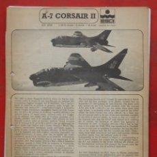 Maquetas: INSTRUCCIONES DE MONTAJE DEL VOUGHT A-7 CORSAIR II DE ESCI ESCALA 1/48. Lote 178024683