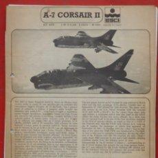 Maquetas: INSTRUCCIONES DE MONTAJE DEL VOUGHT A-7 CORSAIR II DE ESCI ESCALA 1/48. Lote 178024729