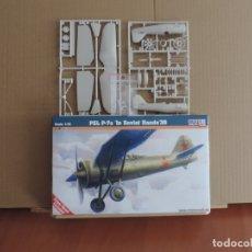 Maquetas: MAQUETAS - MISTERCRAFT B-38 PZL P-7A IN SOVIET HANDS 1/72 + 6 ZTS 1/72. Lote 178051868
