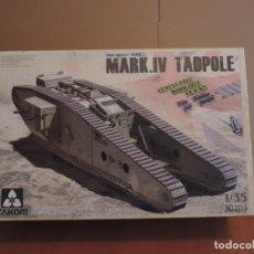 Maquetas: MAQUETA - TAKOM 2015 WWI HEAVY TANK MARK.IV TADPOLE 1/35. Lote 178057803