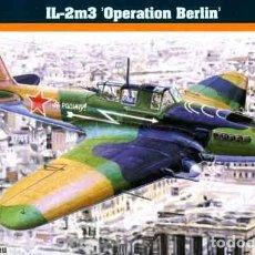 Maquetas: MAQUETA DEL AVIÓN DE ATAQUE RUSO ILYUSHIN IL-2M3 SHTURMOVIK (OPERACIÓN BERLÍN) DE MISTERCRAFT 1/72. Lote 178079649