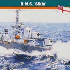 Maquetas: MAQUETA DEL DESTRUCTOR BRITÁNICO HMS SIKH DE MISTERCRAFT A ESCALA 1/600 (2ª GUERRA MUNDIAL). Lote 178080139