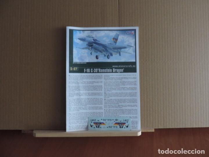 Maquetas: Maqueta - Mistercraft D-67 F-16C-30 Ramstain Dragon 1/72 - Foto 2 - 178140385