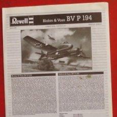 Maquetas: INSTRUCCIONES DE MONTAJE DEL BLOHM UND VOSS BV P.194 DE REVELL ESCALA 1/72. Lote 178559975