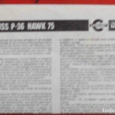 Maquetas: INSTRUCCIONES DE MONTAJE DEL CURTISS P-36 HAWK 75 DE REVELL ESCALA 1/72. Lote 178560527
