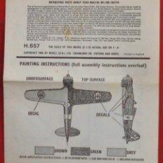 Maquetas: INSTRUCCIONES DE MONTAJE DEL MACCHI MC.200 DE REVELL ESCALA 1/72. Lote 178561972