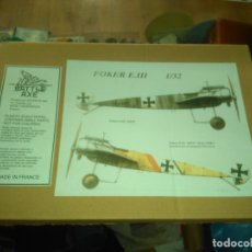 Maquetas: BATTLE-AXE-GERMAN-WW-I-FOKKER-E-III -- 1:32. Lote 178786817