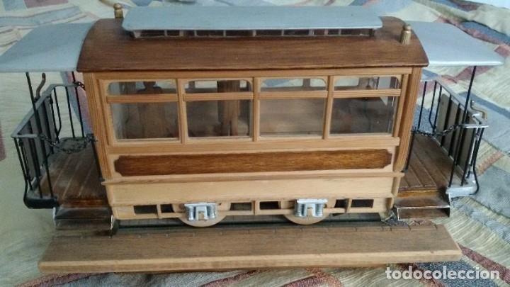 Maquetas: Maqueta tranvía. Todo madera. Pieza única. Artesanal. Realizada por modelista de fundición de CAF. - Foto 2 - 178808170