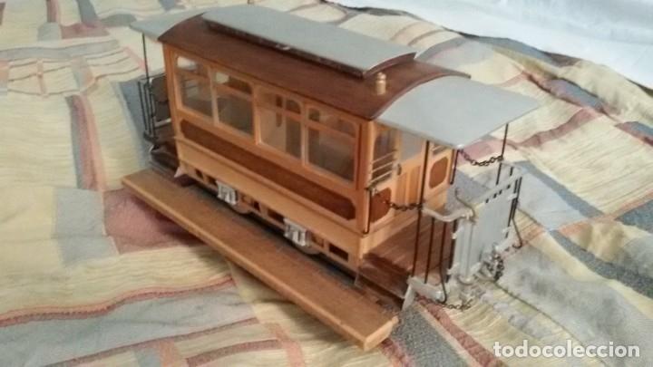 Maquetas: Maqueta tranvía. Todo madera. Pieza única. Artesanal. Realizada por modelista de fundición de CAF. - Foto 3 - 178808170