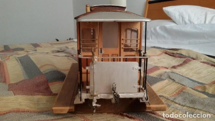 Maquetas: Maqueta tranvía. Todo madera. Pieza única. Artesanal. Realizada por modelista de fundición de CAF. - Foto 4 - 178808170