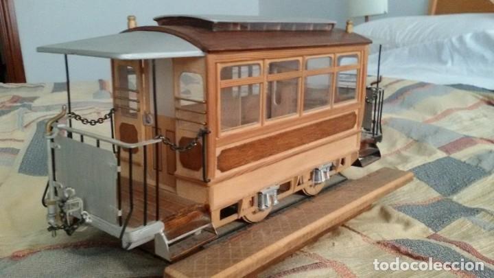 Maquetas: Maqueta tranvía. Todo madera. Pieza única. Artesanal. Realizada por modelista de fundición de CAF. - Foto 5 - 178808170