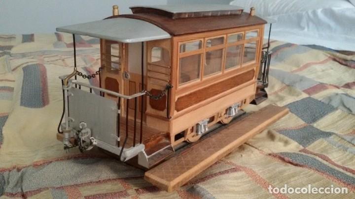 Maquetas: Maqueta tranvía. Todo madera. Pieza única. Artesanal. Realizada por modelista de fundición de CAF. - Foto 6 - 178808170