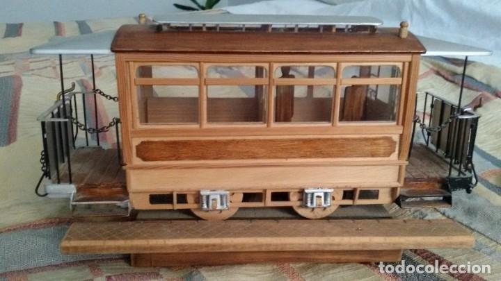 Maquetas: Maqueta tranvía. Todo madera. Pieza única. Artesanal. Realizada por modelista de fundición de CAF. - Foto 7 - 178808170