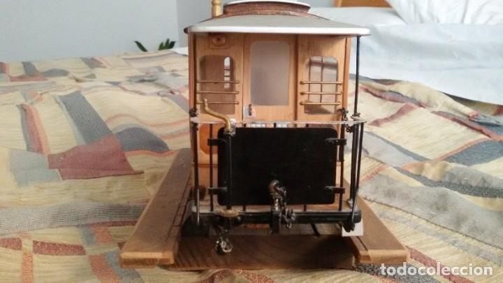 Maquetas: Maqueta tranvía. Todo madera. Pieza única. Artesanal. Realizada por modelista de fundición de CAF. - Foto 9 - 178808170