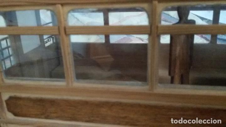Maquetas: Maqueta tranvía. Todo madera. Pieza única. Artesanal. Realizada por modelista de fundición de CAF. - Foto 10 - 178808170