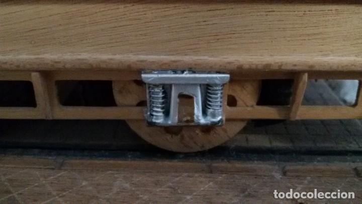 Maquetas: Maqueta tranvía. Todo madera. Pieza única. Artesanal. Realizada por modelista de fundición de CAF. - Foto 11 - 178808170