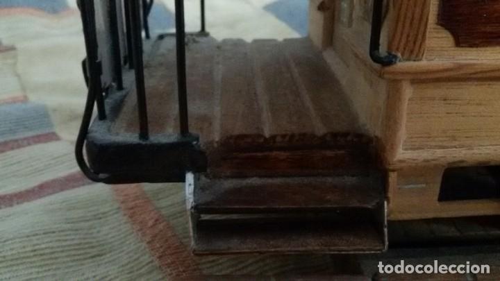 Maquetas: Maqueta tranvía. Todo madera. Pieza única. Artesanal. Realizada por modelista de fundición de CAF. - Foto 13 - 178808170