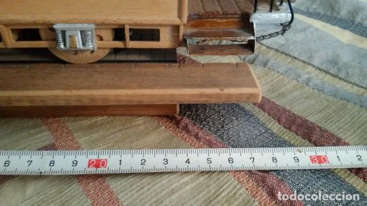 Maquetas: Maqueta tranvía. Todo madera. Pieza única. Artesanal. Realizada por modelista de fundición de CAF. - Foto 15 - 178808170