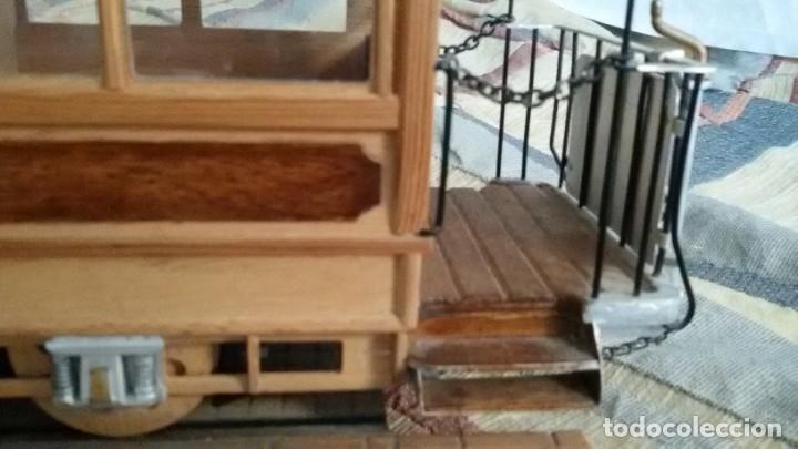 Maquetas: Maqueta tranvía. Todo madera. Pieza única. Artesanal. Realizada por modelista de fundición de CAF. - Foto 16 - 178808170