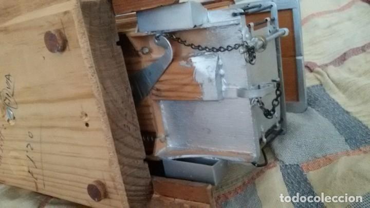 Maquetas: Maqueta tranvía. Todo madera. Pieza única. Artesanal. Realizada por modelista de fundición de CAF. - Foto 19 - 178808170