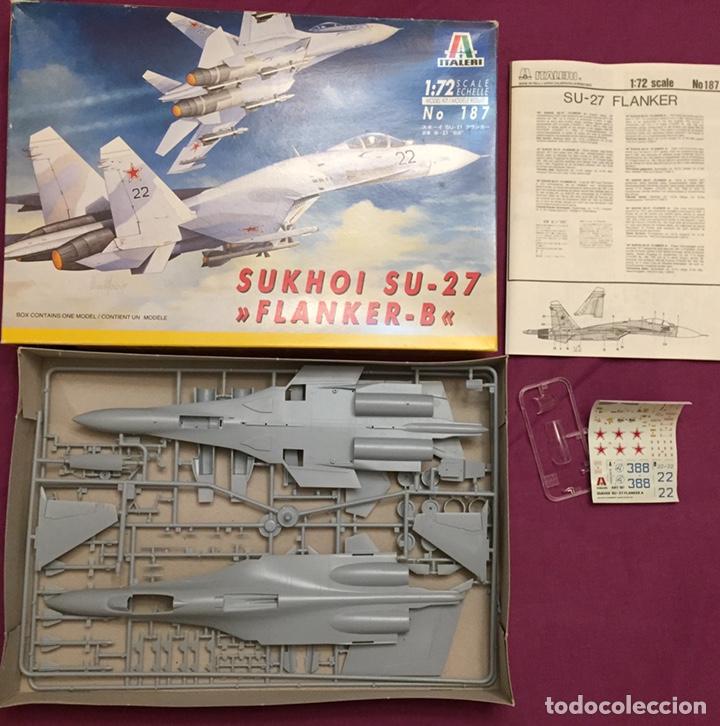 Maquetas: SUKHOI SU-27 Flanker 1:72 ITALERI 187 maqueta avión - Foto 3 - 178810460