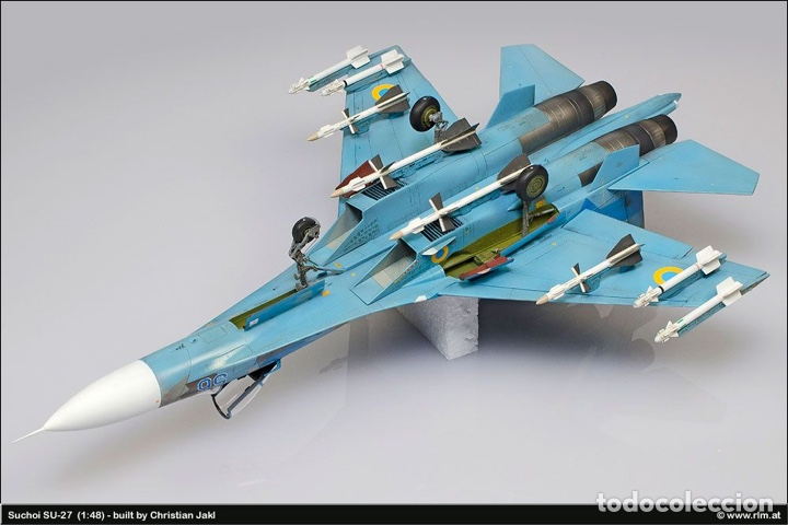 Maquetas: SUKHOI SU-27 Flanker 1:72 ITALERI 187 maqueta avión - Foto 13 - 178810460