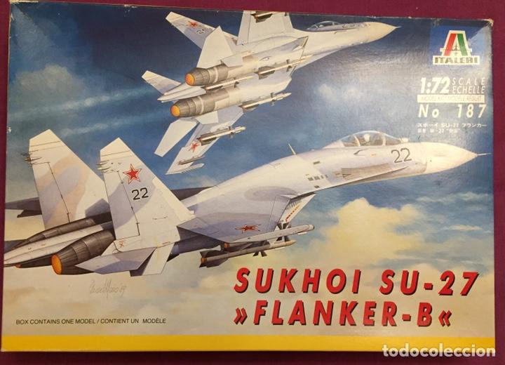 SUKHOI SU-27 FLANKER 1:72 ITALERI 187 MAQUETA AVIÓN (Juguetes - Modelismo y Radio Control - Maquetas - Aviones y Helicópteros)