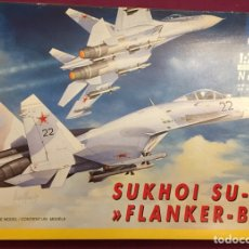 Maquetas: SUKHOI SU-27 FLANKER 1:72 ITALERI 187 MAQUETA AVIÓN. Lote 178810460