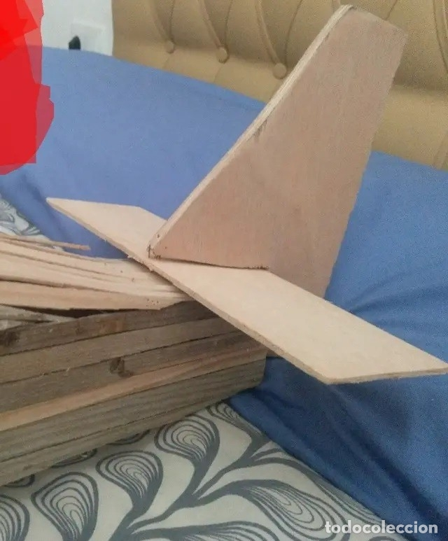 Maquetas: Avión de madera grandes dimensiones 120 cm de ancho - Foto 3 - 178857721