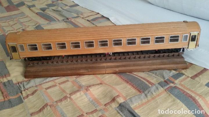 Maquetas: Tren, Renfe, vagón, todo madera, pieza única, artesania, creada por modelista de fundición de CAF - Foto 34 - 178892131
