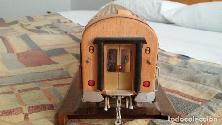 Maquetas: Tren, Renfe, vagón, todo madera, pieza única, artesania, creada por modelista de fundición de CAF - Foto 5 - 178892131