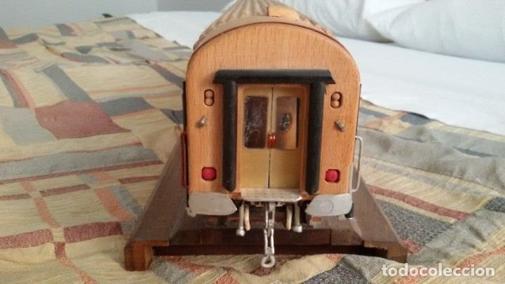 Maquetas: Tren, Renfe, vagón, todo madera, pieza única, artesania, creada por modelista de fundición de CAF - Foto 6 - 178892131