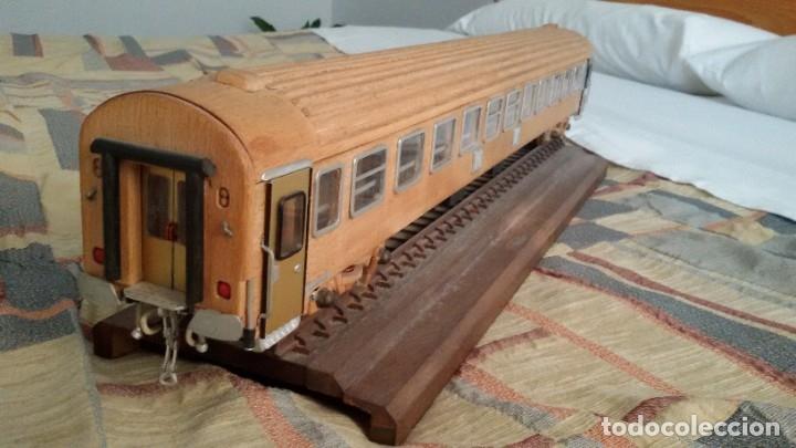 Maquetas: Tren, Renfe, vagón, todo madera, pieza única, artesania, creada por modelista de fundición de CAF - Foto 7 - 178892131