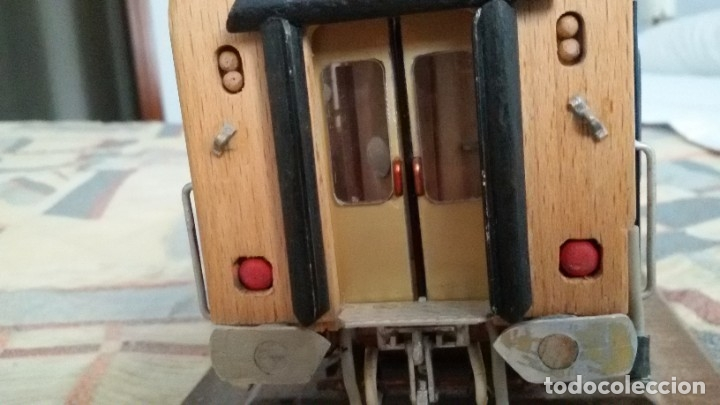 Maquetas: Tren, Renfe, vagón, todo madera, pieza única, artesania, creada por modelista de fundición de CAF - Foto 11 - 178892131