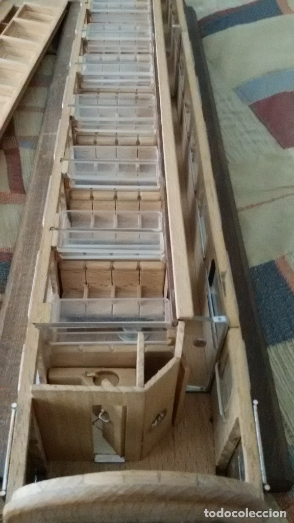 Maquetas: Tren, Renfe, vagón, todo madera, pieza única, artesania, creada por modelista de fundición de CAF - Foto 21 - 178892131