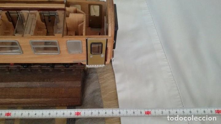 Maquetas: Tren, Renfe, vagón, todo madera, pieza única, artesania, creada por modelista de fundición de CAF - Foto 24 - 178892131