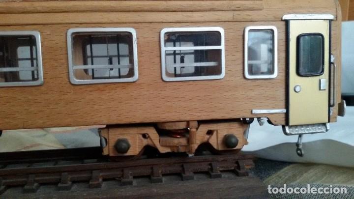 Maquetas: Tren, Renfe, vagón, todo madera, pieza única, artesania, creada por modelista de fundición de CAF - Foto 29 - 178892131