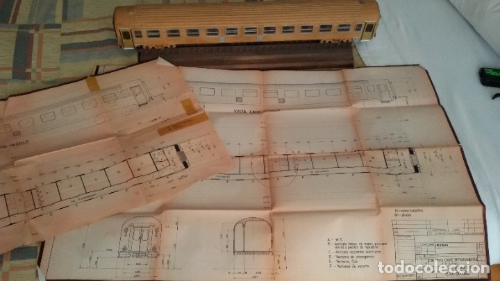 Maquetas: Tren, Renfe, vagón, todo madera, pieza única, artesania, creada por modelista de fundición de CAF - Foto 30 - 178892131