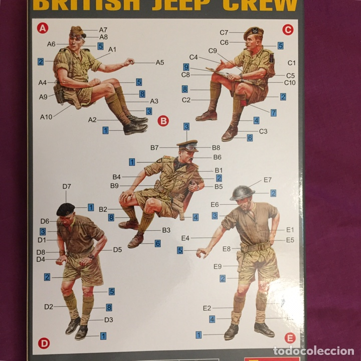 Maquetas: British Jeep Crew conductores 1:35 MINIART 35051 maqueta figuras carro diorama - Foto 2 - 178932450