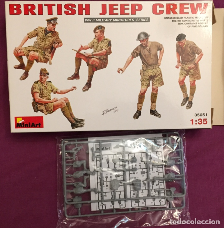 Maquetas: British Jeep Crew conductores 1:35 MINIART 35051 maqueta figuras carro diorama - Foto 3 - 178932450