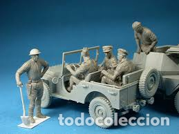 Maquetas: British Jeep Crew conductores 1:35 MINIART 35051 maqueta figuras carro diorama - Foto 5 - 178932450
