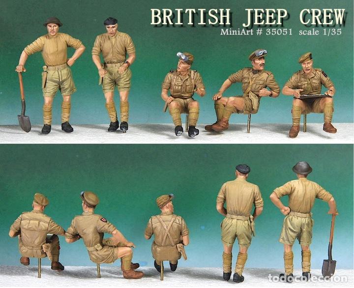 Maquetas: British Jeep Crew conductores 1:35 MINIART 35051 maqueta figuras carro diorama - Foto 6 - 178932450