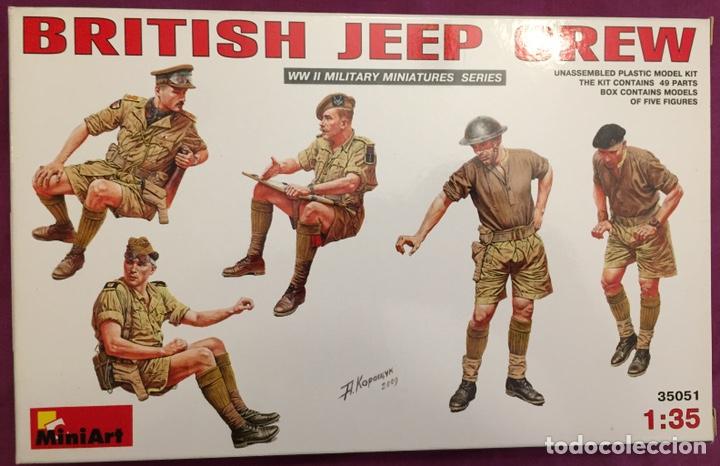 BRITISH JEEP CREW CONDUCTORES 1:35 MINIART 35051 MAQUETA FIGURAS CARRO DIORAMA (Juguetes - Modelismo y Radiocontrol - Maquetas - Militar)