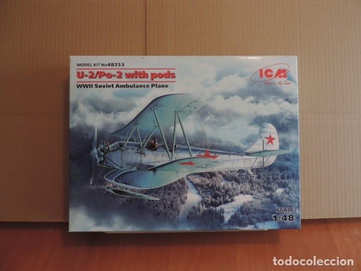 MAQUETA - ICM 48253 U2/PO-2 WITH PODS WWII SOVIET AMBULANCE PLANE 1/48 (Juguetes - Modelismo y Radio Control - Maquetas - Aviones y Helicópteros)