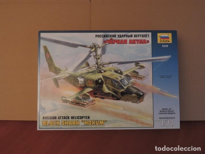 MAQUETA - ZVEZDA 7216 RUSSIAN ATTACK HELICOPTER BLACK SHARK HOKUM (KAMOV KA-50) 1/72 (Juguetes - Modelismo y Radio Control - Maquetas - Aviones y Helicópteros)