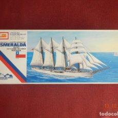Maquetas: BUQUE ESCUELA ESMERALDA DE LA MARINA CHILENA. ESCALA 1/350. AÑOS 70. . Lote 179007351