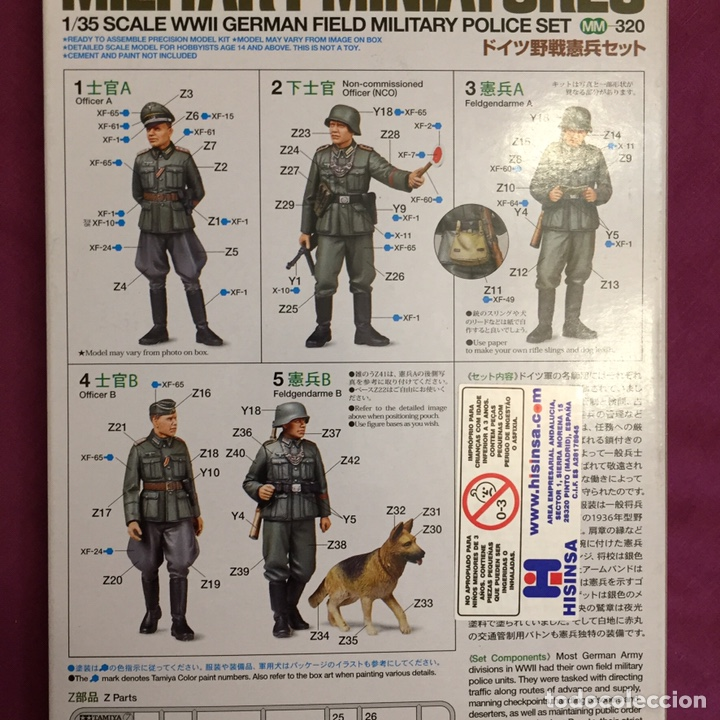 Maquetas: Germán Field Military Police Set 1:35 TAMIYA 35320 maqueta figuras diorama carro - Foto 2 - 179011366