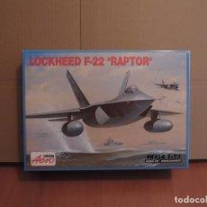 Maquetas: MAQUETA - AEROPLAST A-219 F-22A RAPTOR 1/72. Lote 179018761