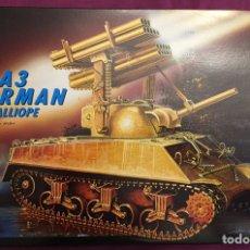 Maquettes: M4A3 SHERMAN CALLIOPE 1:35 ITALERI 288 MAQUETA CARRO LANZACOHETES DIORAMA TANQUE. Lote 179061887